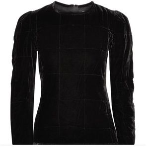Isabel Marant Tuline Quilted Velvet Top NWT $755